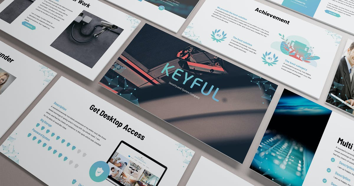 Download Keyful - Security System Powerpoint Template by SlideFactory