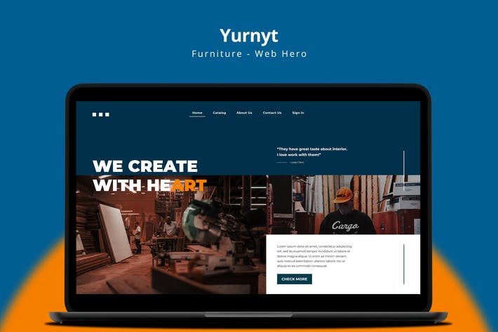 Yurnyt - Furniture Web Hero Page