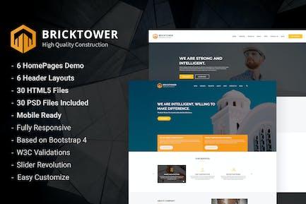 Bricktower - Bauunternehmen HTML5 Vorlage