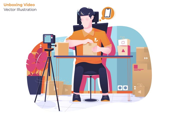 Thumbnail for Unboxing Video - Vector Illustration