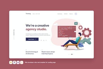 Webentwickler Relax Web Vorlage für Landing Page