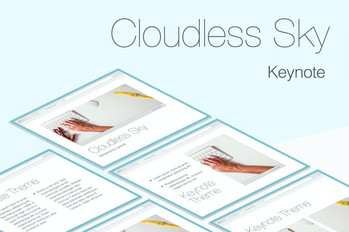 Thumbnail for Cloudless Sky Keynote Template