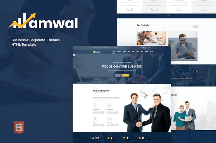 Thumbnail for Amwal - Modèle HTML5 Business & Financial