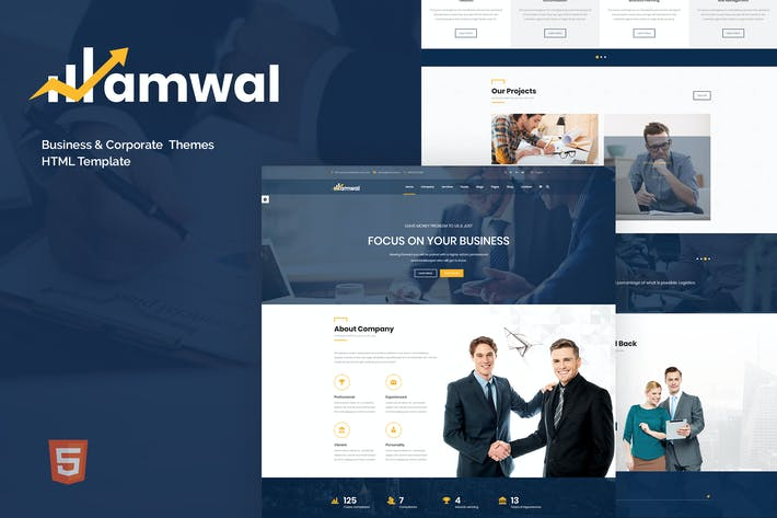 Cover Image For Amwal - Business & Financial HTML5 Template