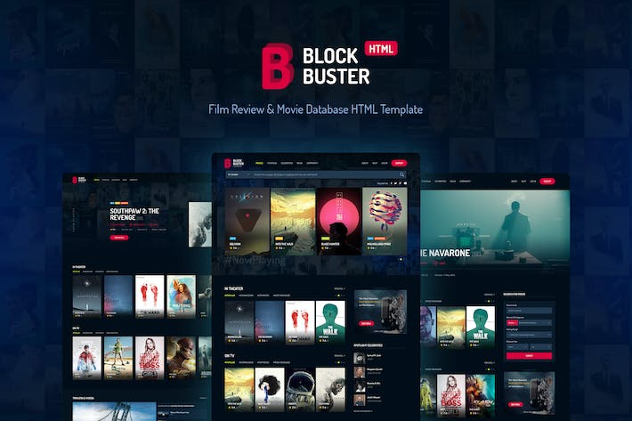Thumbnail for BlockBuster - Film Review & Movie Database HTML