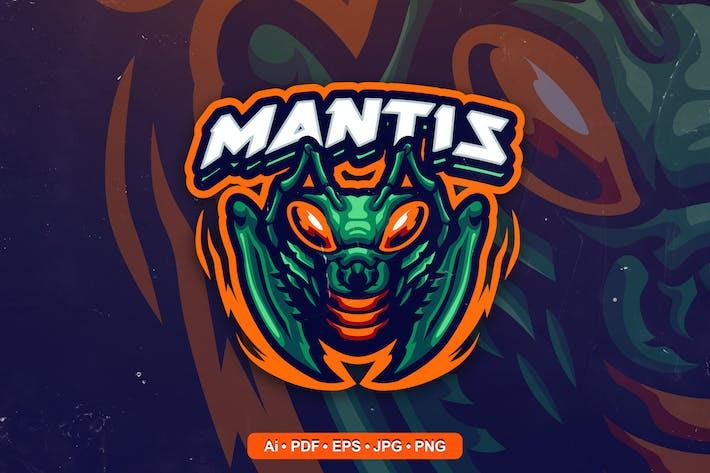 mantis Mascot Logo template