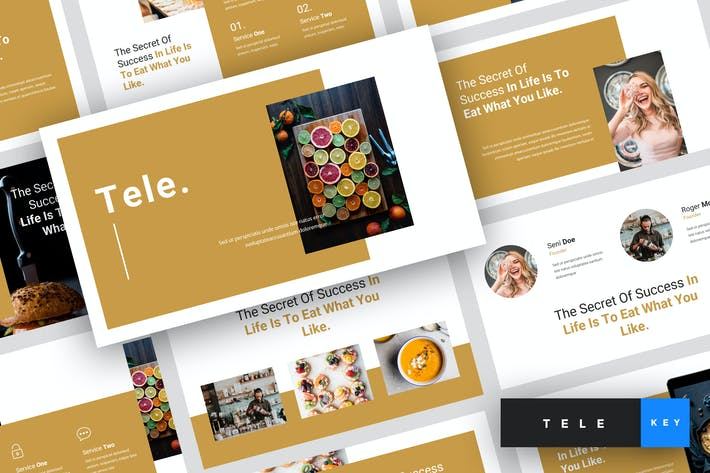 Thumbnail for Tele - Food Keynote Template