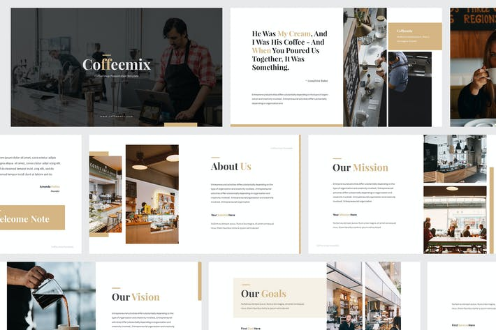 Cover Image For Coffee Shop Keynote Template