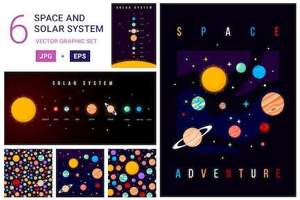 Solar system patterns set