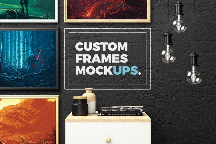 Thumbnail for Custom Frames Mockups