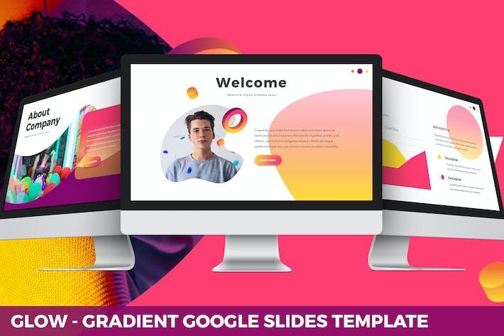 Thumbnail for Glow - Gradient Google Slides Template