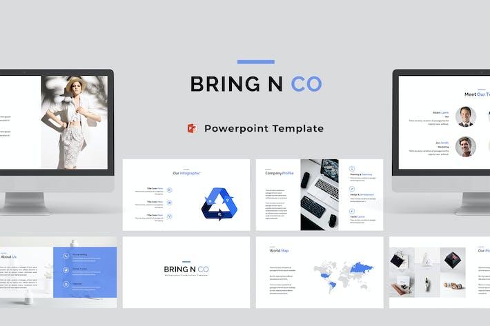 Thumbnail for Bring N Co - Unternehmens- Powerpoint-Vorlage