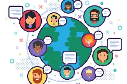 Globale Darstellung der Vielfalt der Menschen