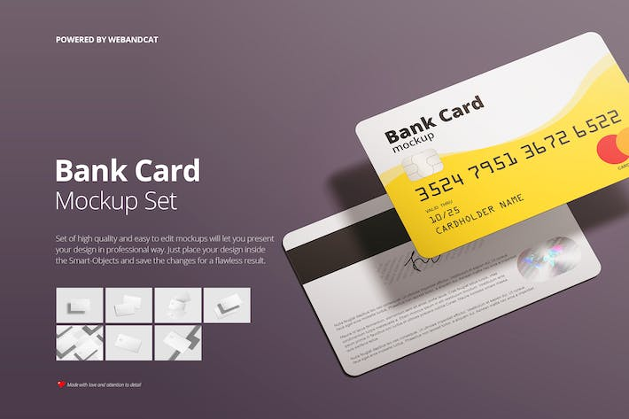 Thumbnail for Bank / Membership Card Mockup