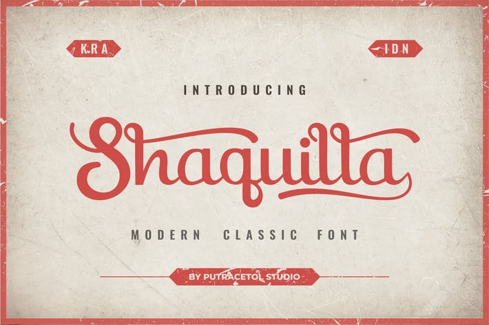 Thumbnail for Shaquilla - Modern Classic Style Font