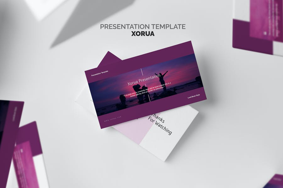 Xorua : Purple Gradient Color Tone Powerpoint