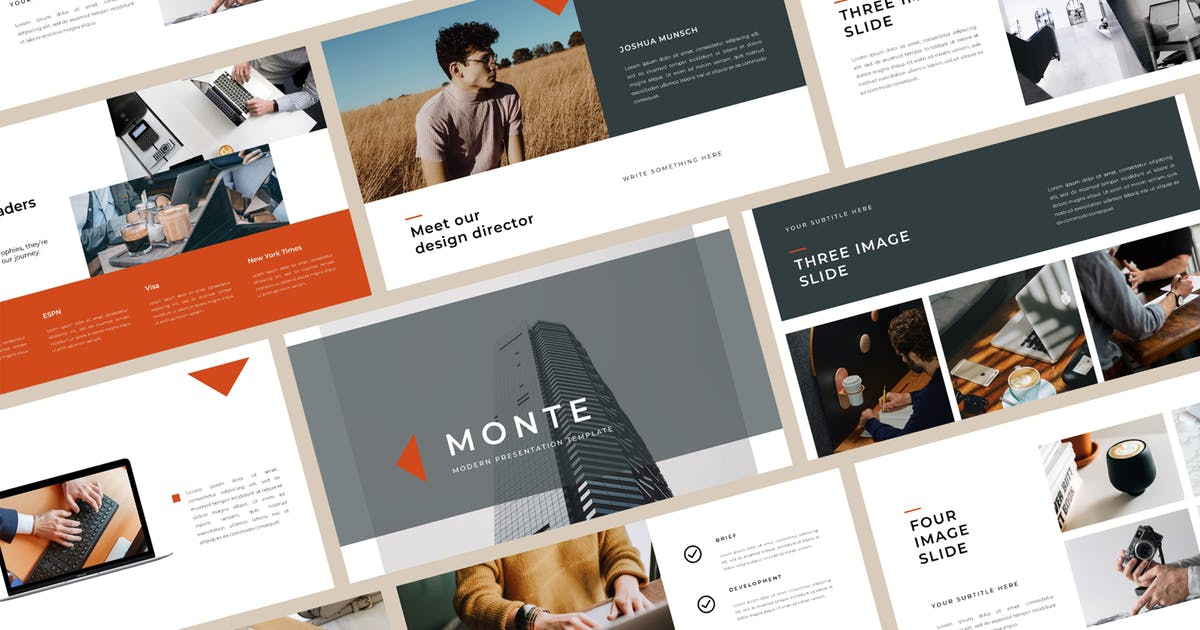 Download Monte PowerPoint Template by BervisualStd