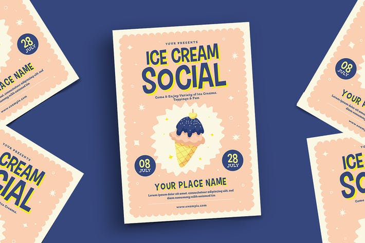Thumbnail for Ice Cream Social Flyer