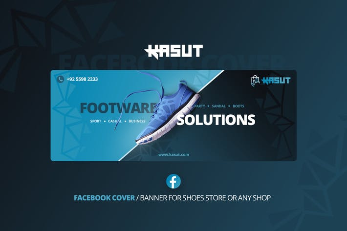 Thumbnail for Kasut - Shoes Facebook Cover Template