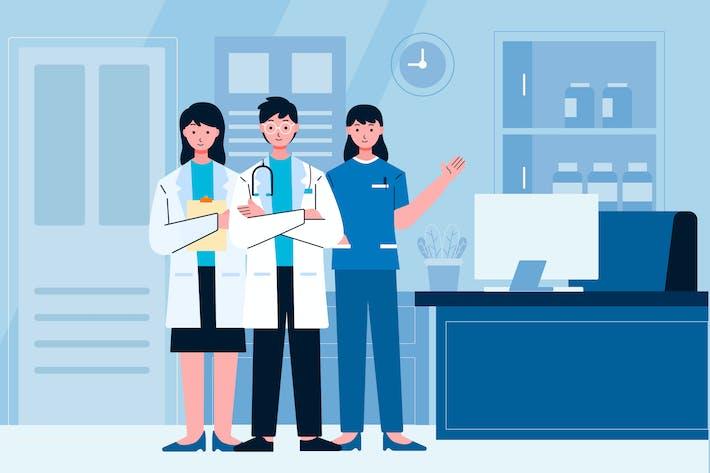 Illustration des Mediziners