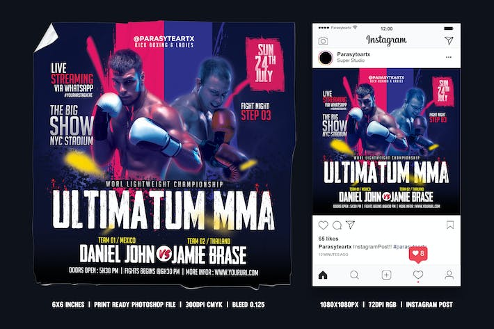 Thumbnail for MMA Square Flyer & Instagram Post