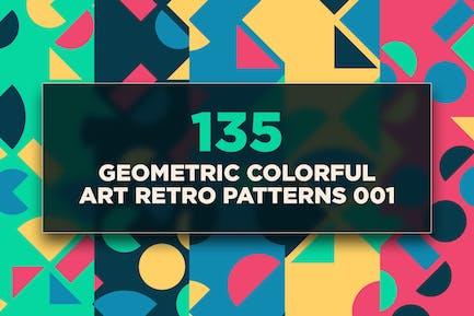 135 Geometric Colorful Art Retro Patterns 001