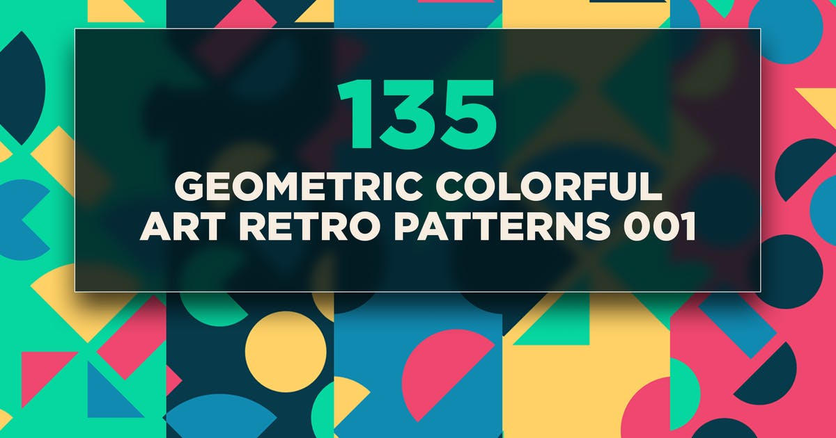 Download 135 Geometric Colorful Art Retro Patterns 001 by traint