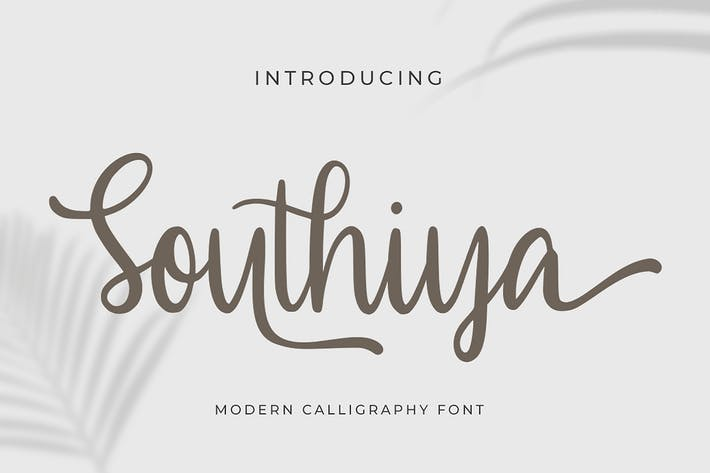 Thumbnail for Southiya - Modern Calligraphy Font