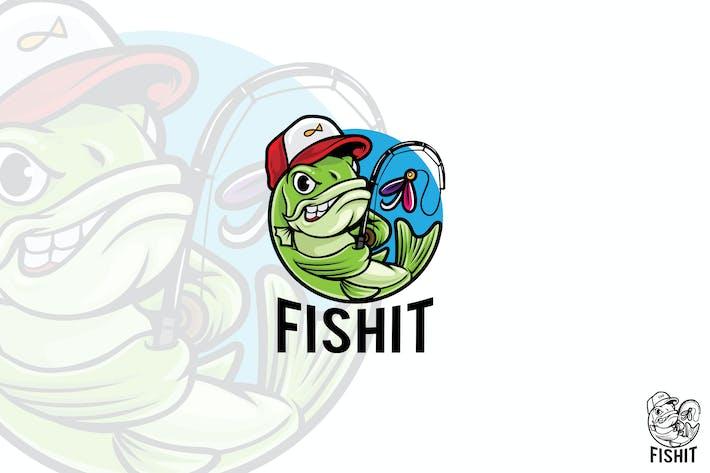 Mascotte Logo Pêche