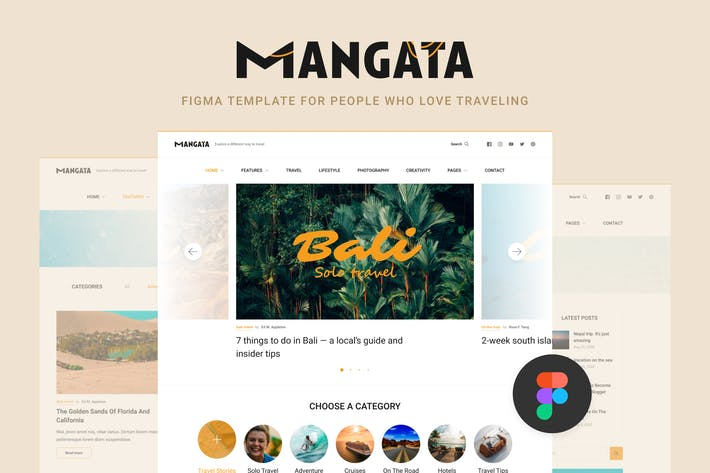 Thumbnail for Mangata — Traveler Blog Template