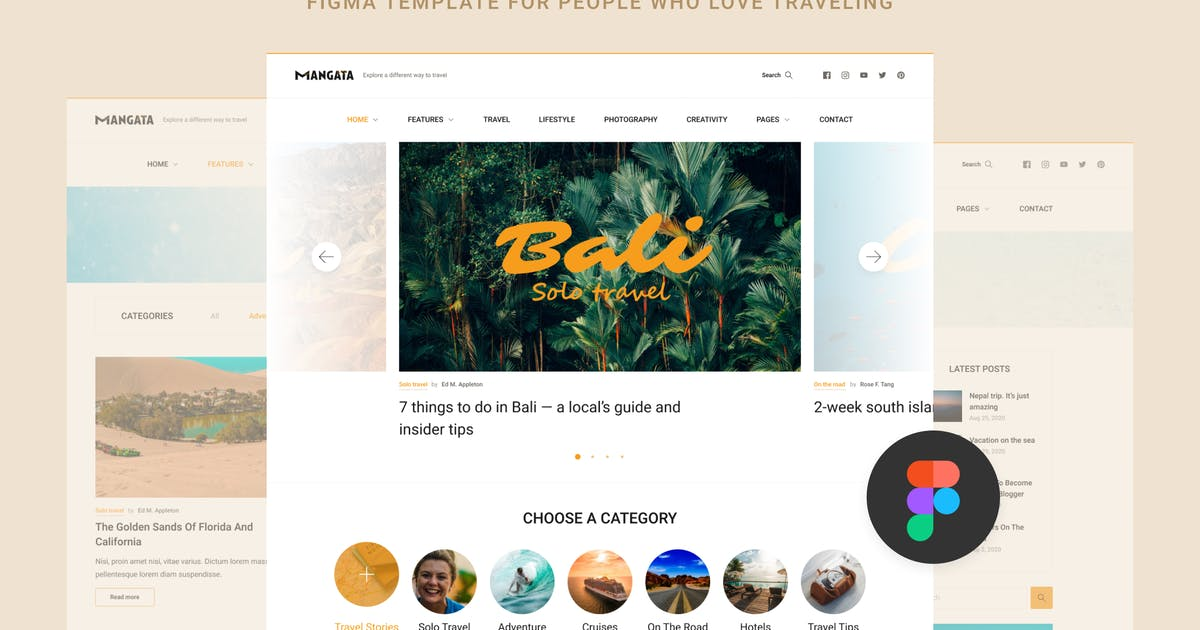 Download Mangata — Traveler Blog Template by Middltone
