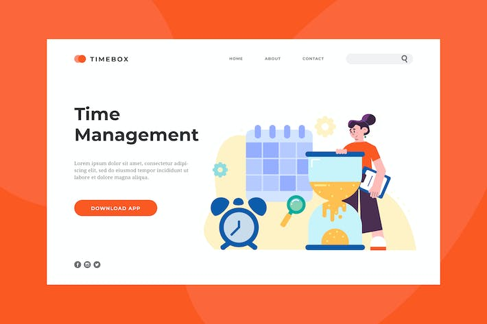 Thumbnail for Time Management Landing Page