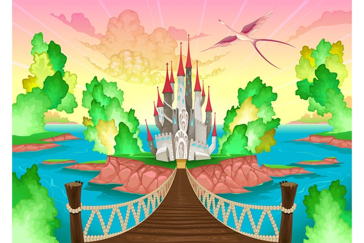 Thumbnail for Fantasy Landscape with Castle