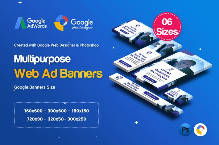 Thumbnail for C25 - Multipurpose, Business Banners GWD & PSD