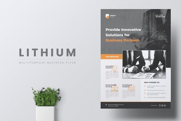 Thumbnail for LITHIUM Multipurpose Business Flyer