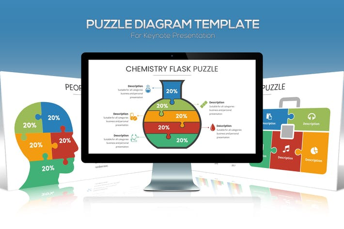 Thumbnail for Диаграмма головоломки для презентации Keynote