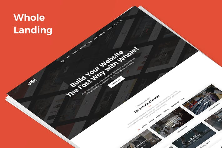 Thumbnail for Whole Demo Landing PSD Template