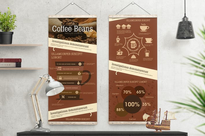 Thumbnail for Coffee Infographics Template