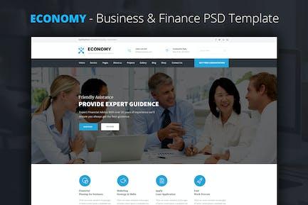 Economy - Finance & Business PSD Template