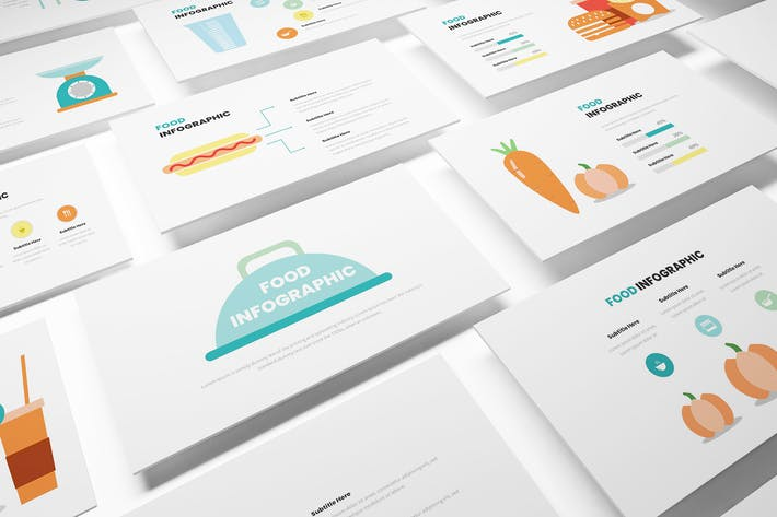 Thumbnail for Food Infographic Powerpoint Template