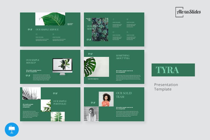 Thumbnail for Tyra - Nature Keynote Template