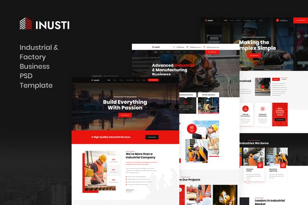 Inusti - Industrial & Factory Business PSD