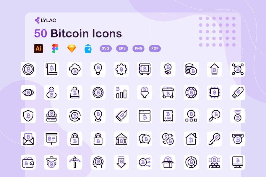 Lylac - Bitcoin Icons