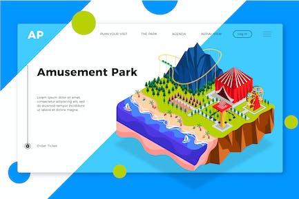 Amusement Park  - Banner & Landing Page