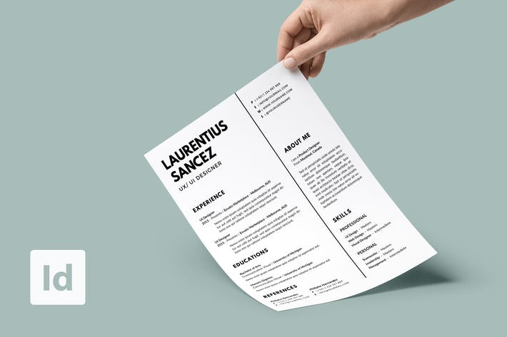 Thumbnail for Clean Resume Template