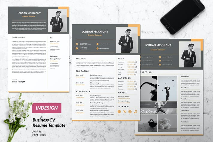 Thumbnail for Creative Business Resume Vol. 35