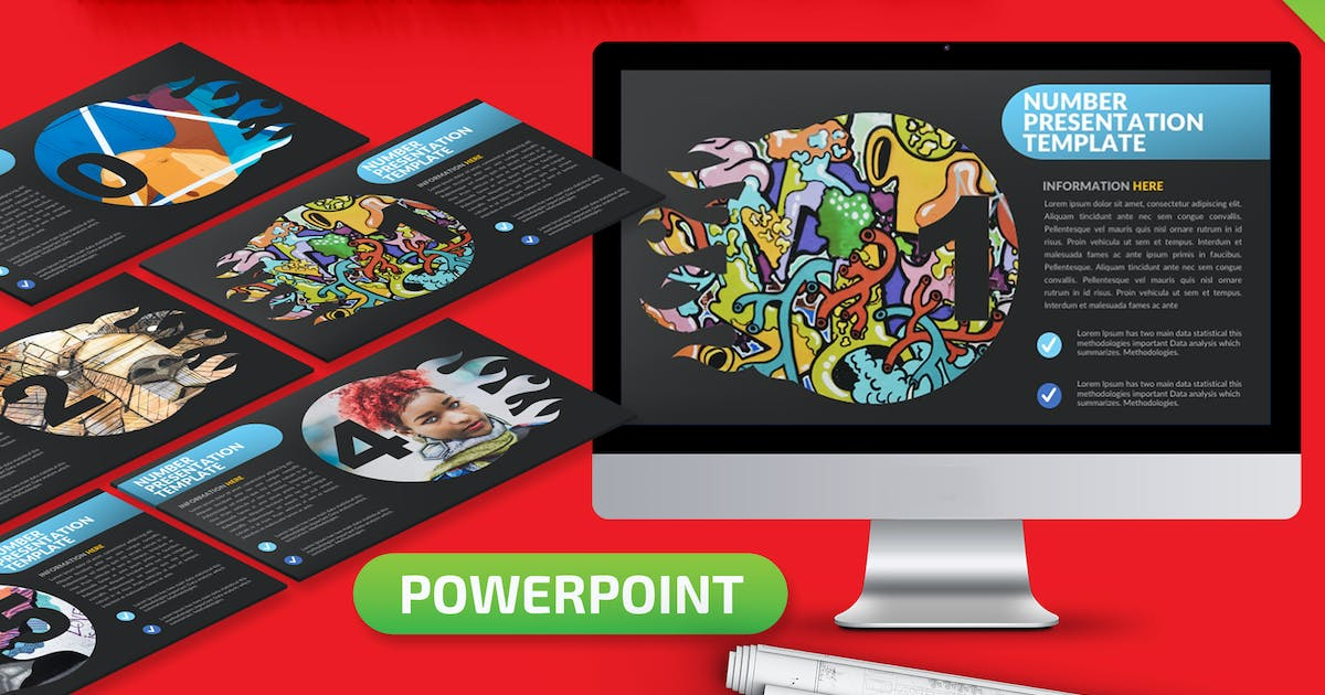 Download Number Powerpoint Presentation Template by mamanamsai