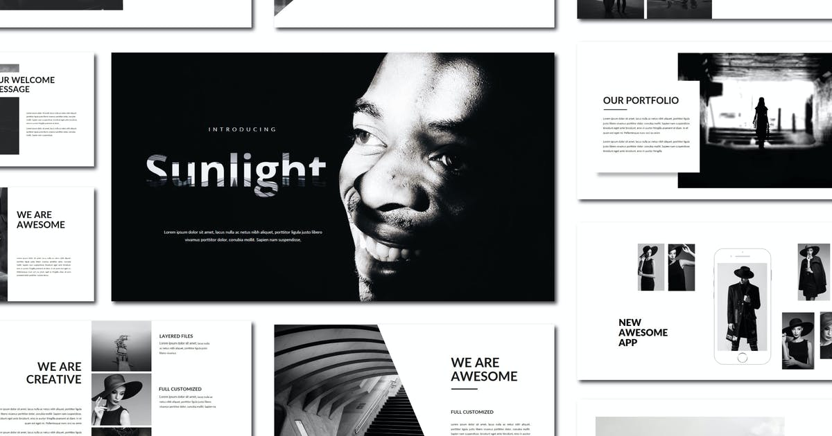 Download Sunlight   Powerpoint Template by amarlettering