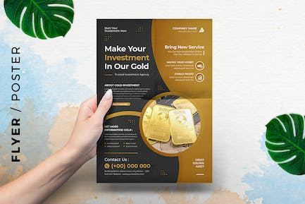 Gold Investment  Template Flyer - Event Poster