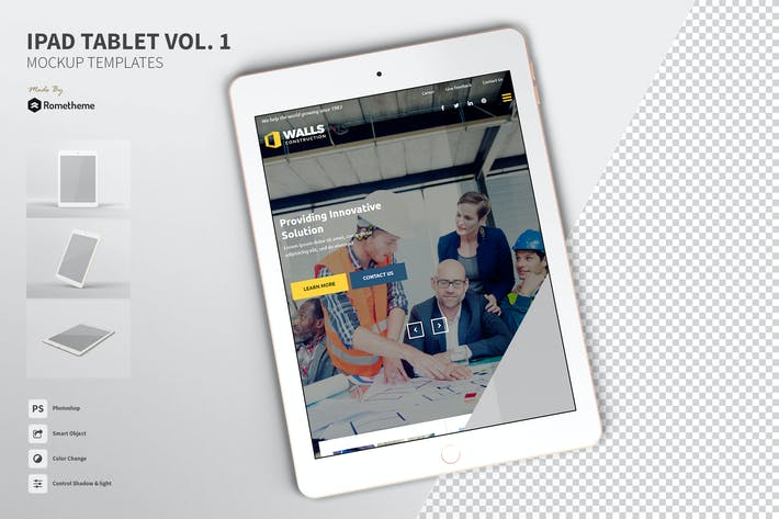 Thumbnail for Ipad Tablet Screen Mockup vol.1 FH